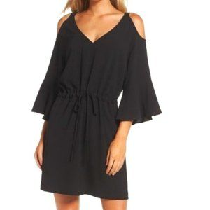 Felicity & Coco Cold Shoulder Black Mini Dress